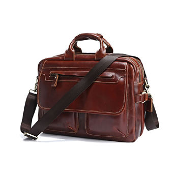 leather messenger bag laptop /student satchel genuine leather / 17 inch laptop computer bag