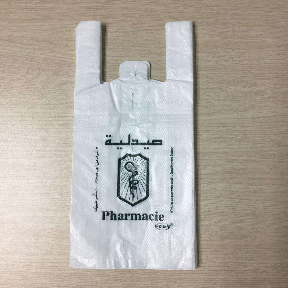HDPE plastic bags with handle made in Vietnam/small size for pharmacy
