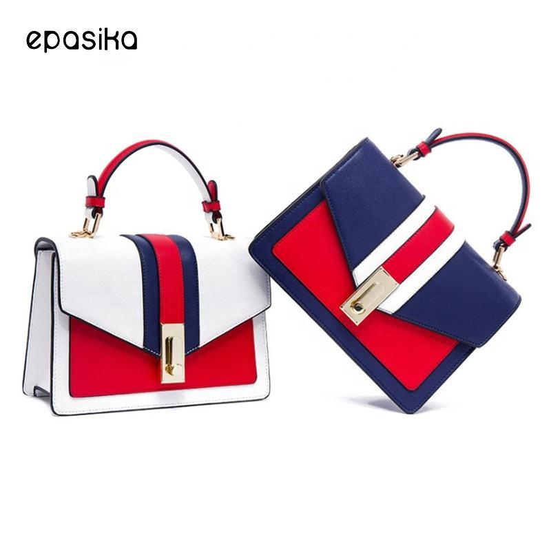 la pu de pequeño de Compras de moda de <span class=keywords><strong>marca</strong></span> de bolsos de señora profesional de las mujeres bolsa de hombro bolso