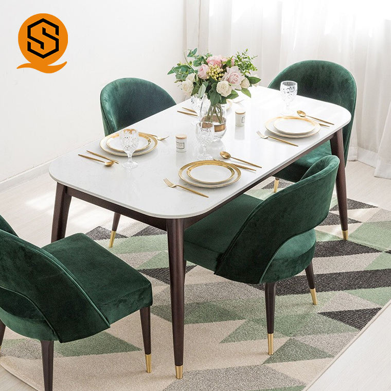 hot selling white home dining table composite acrylic dinner table set for sale