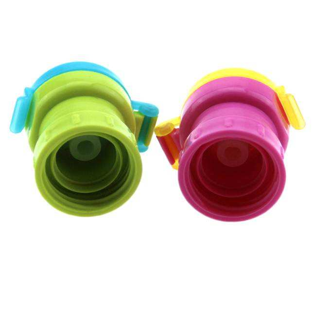 Soda Water Bottle Twist Cover Cap, Spill Proof Safe Drink Straw Sippy Cap Feeding for Kids