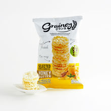 Grainey Thai Rice Cracker Honey butter From Brown Jasmine Rice Crispy Gluten-Free Halal Healthy Snack