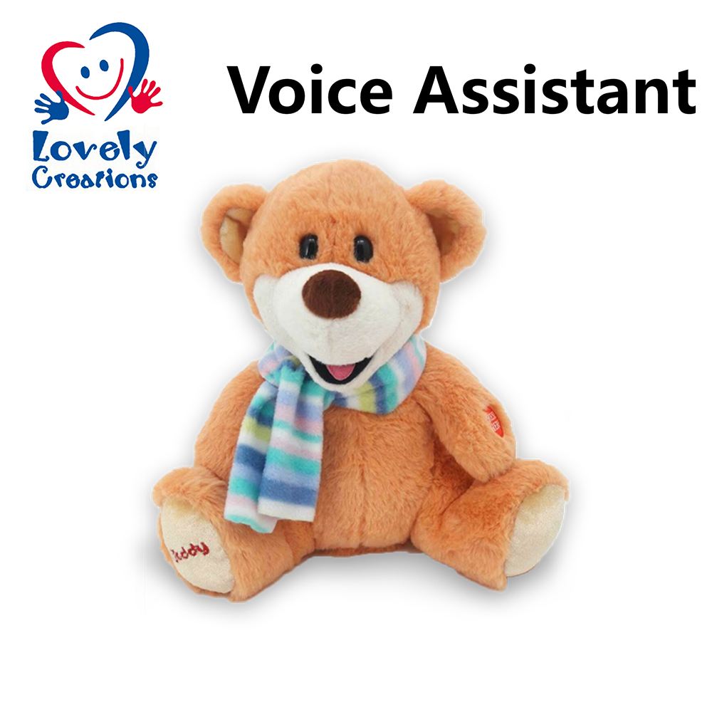 Custom Soft Voice Talking Intelligent Electronic Repeat Recordable Plush Stuffed Peluches De Animal Education Teddy Bear Toys
