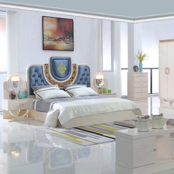 factory wholesale modern turkey luxury royal bedroom set home use high gloss plywood turkish bedroom furniture