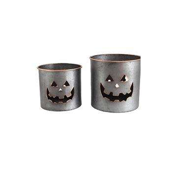 SILVER HALLOWEEN BUCKET CHRISTMAS DECORATIVE SILVER FINISHED AMAZING PAIL HIGH QUALITY DECOR PAIL