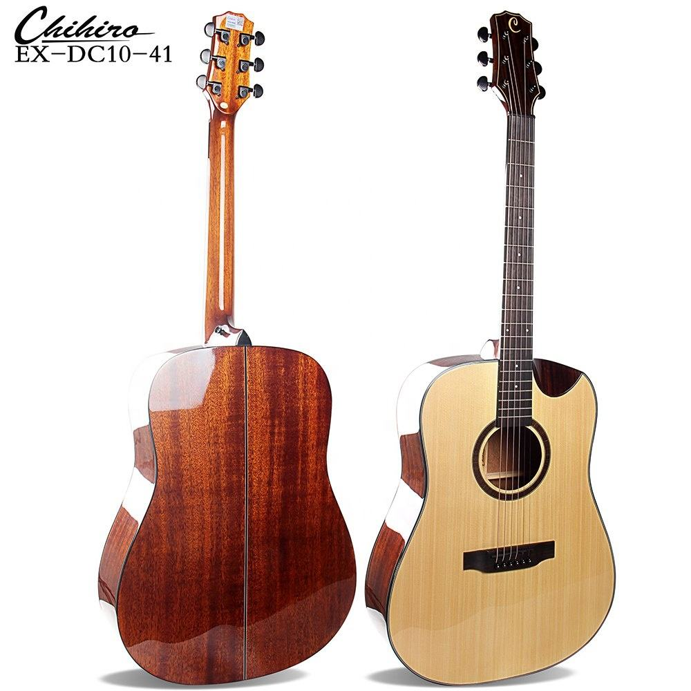 Popular Style Type Semi spruce & mahogany Acoustic Guitars
