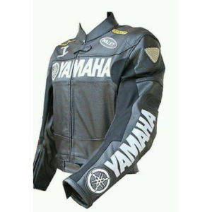 YAMAHA Bomber Full Fur Removable Hood Genuine Sheep Leather Jacket