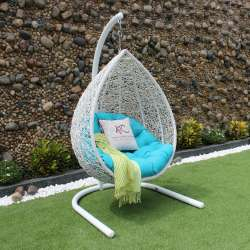 High Quality Synthetic Poly Rattan Egg Hammock