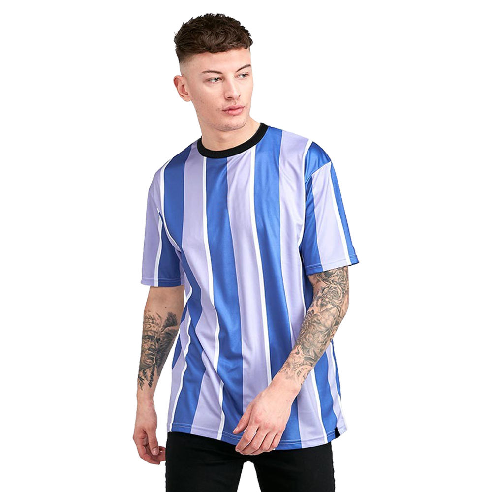 wholesale plain vintage blank high quality unbranded t-shirts 100 cotton vertical striped men t shirt