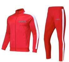 Hgh QUALITY TRACKSUITS with Custom LOGO Polyester Blank men jogging suits wholesale custom sportswear