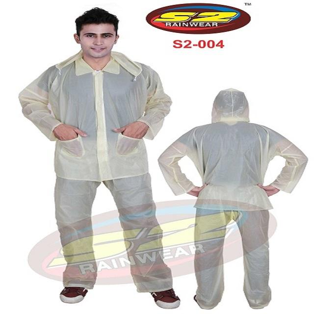 Popular Models Rubberized Pvc Rainsuit With Hooded
