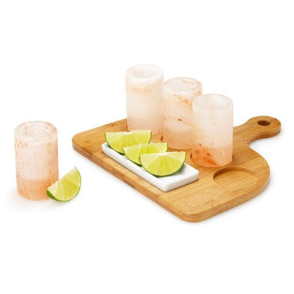 Himalayan Salt Tequila Shot Glasses Set, Pink Salt Tequila Glass Himalayan Salt Shots
