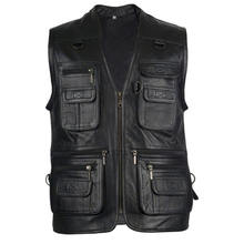 Leather Vest for Shooting , Fishing , Hunting Oem