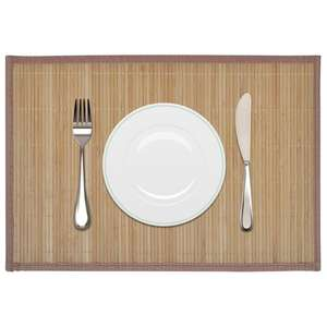 Simple beautiful bamboo placemat wholesale