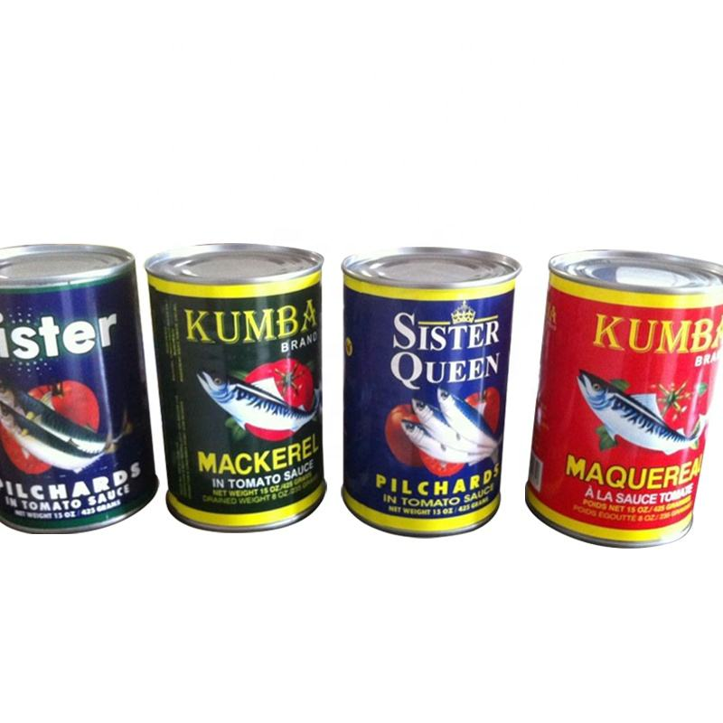 Canned mackerel fish in tomato sauce 3-5pcs