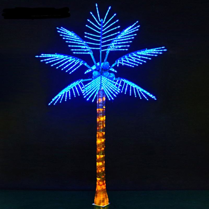 Artificial LED coconut tree lights palm tree with led lights