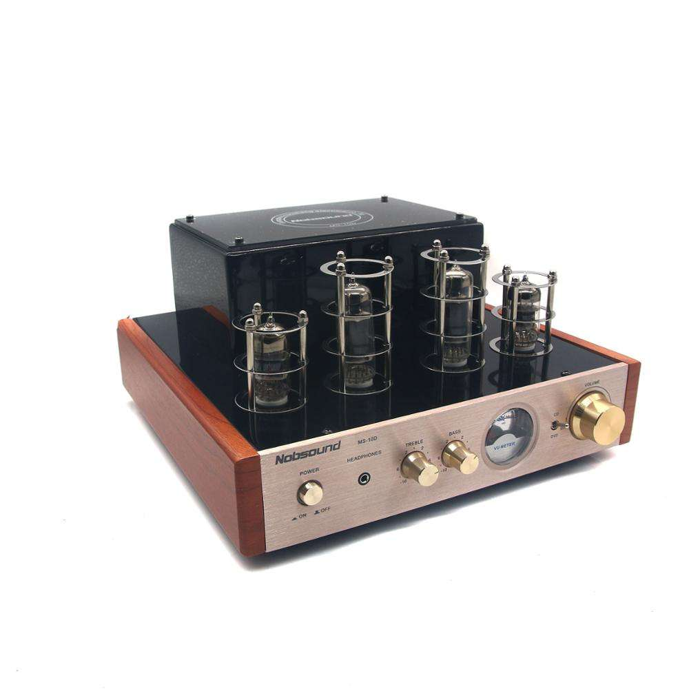 STEREO AUDIO Hi Fi Headphone Amp Solid State 25 W * 2 220 V Nobsound MS-10D Amplifier Tabung