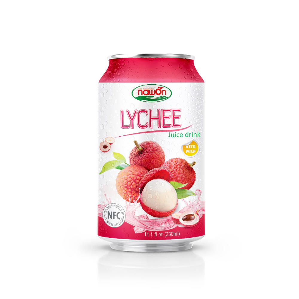 11.1 fl oz NFC NAWON Canned Lychee Juice drink with pulp