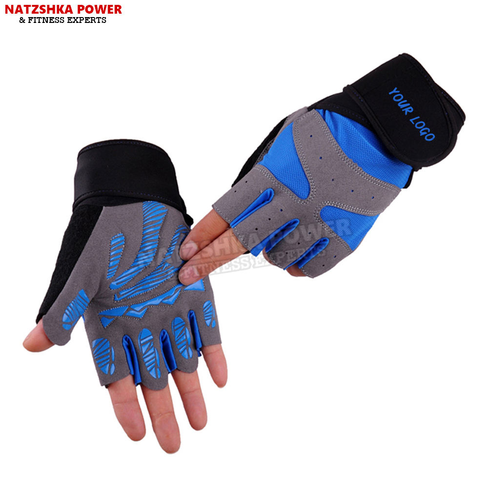 Gym Gloves Unisex Half Finger Silicone Weight lifting Fitness Dumbbell Exercise Training Multi function Tactical Sports Gloves