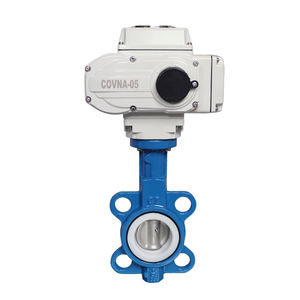 COVNA DN100 PN16 4 inch 12 Volt PTFE Lined Wafer Type Cast Iron Electric Motorized Butterfly Valve
