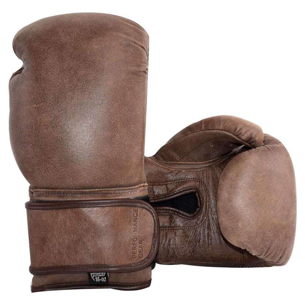Vintage Tan Brown Genuine Leather Boxing Gloves personalized boxing gloves