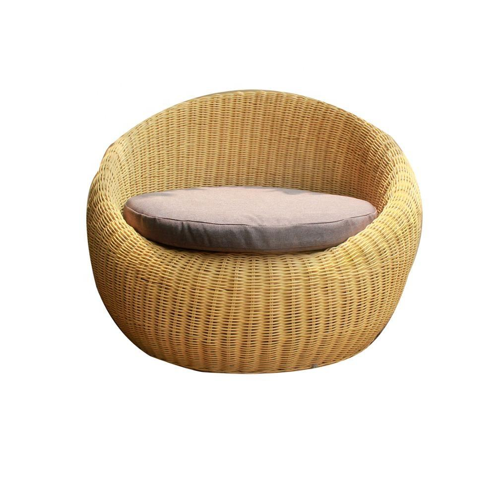 Rattan wicker furniture lounge chair