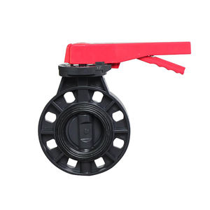 4 inch EPDM Rubber Seat Sea Water PVC Manual Flange Butterfly ValveCustoms Data