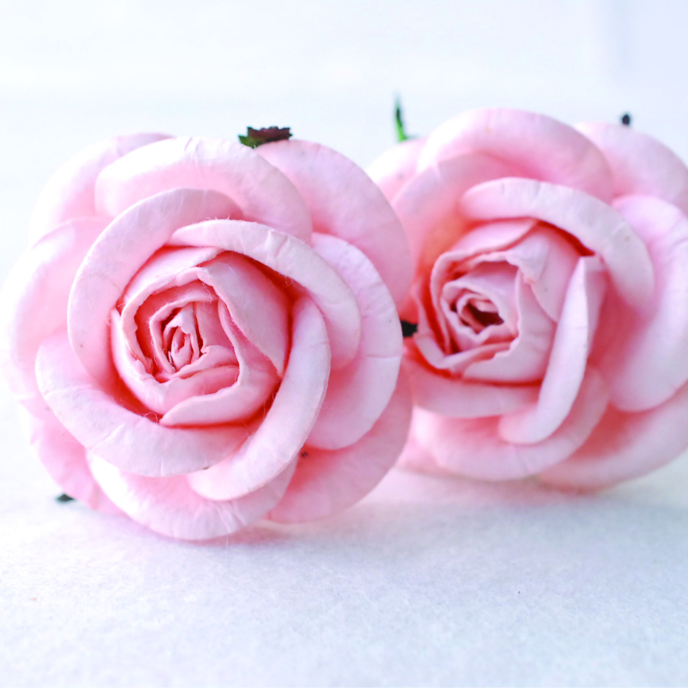 roses paper flowers medium size4.5 cm., mulberry paper flowers, handmade