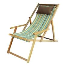 Adjustable 3 height adjuster folding beach chair deck chair camping chair