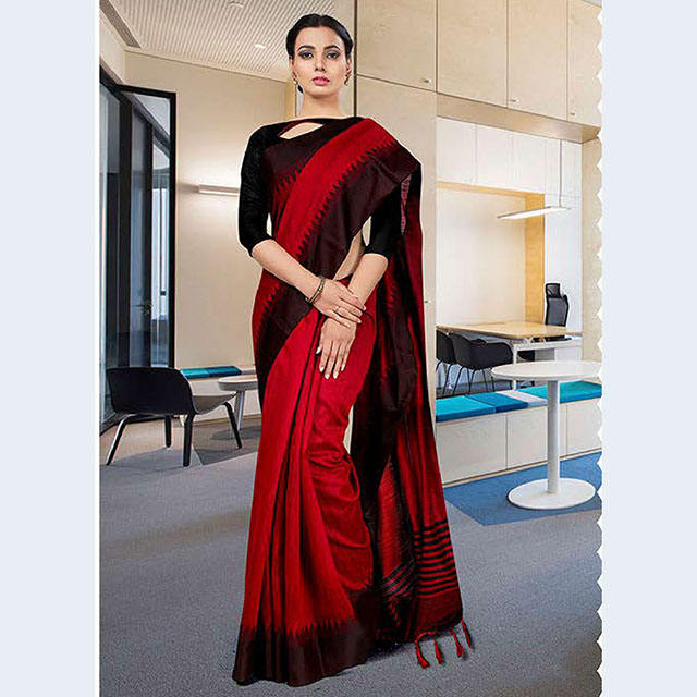 Designer Art Silk Casual Wear Uniform Sarees Wholesale Collection