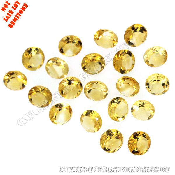 <span class=keywords><strong>Citrino</strong></span> natural para la venta 20 unids 8mm ronda normal de corte de piedras preciosas 34.10Cts Venta caliente mucho