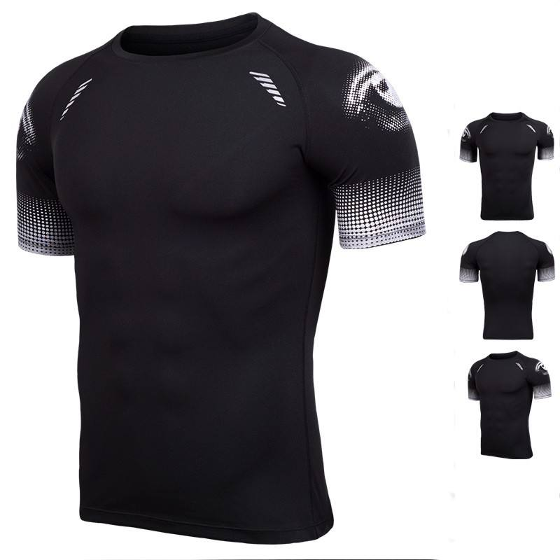 Custom Men O Neck Strip bodybuilding gym wear sport t-shirt/Wholesale Cheap Sport Wear Slim Fit Plain Men Muscle T shirts