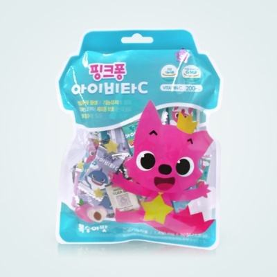 baby shark candy 50pill pinkfong vitamin c candy vitamin C 200mg kids vitamin candy cheap price made in korea drug store