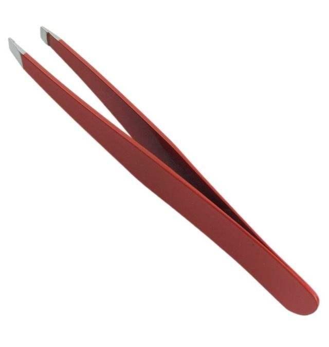 Belleza profesional de Color de alta calidad de acero inoxidable pinzas inclinación en punta
