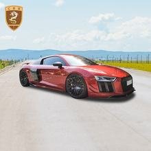 Wholesale Auto Parts Front Bumper Spoiler Front Lip Splitters Suitable For Audi R8 Capristo Carbon Fiber Body Kits