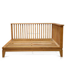 Sofa India Daybed Style with wooden slats Solid Teak Wood Brown Color