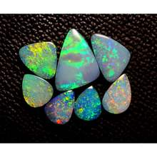 Top Quality Natural Multi  Fire Australian Opal Boulder Doublet  Cabochon  Good Quality