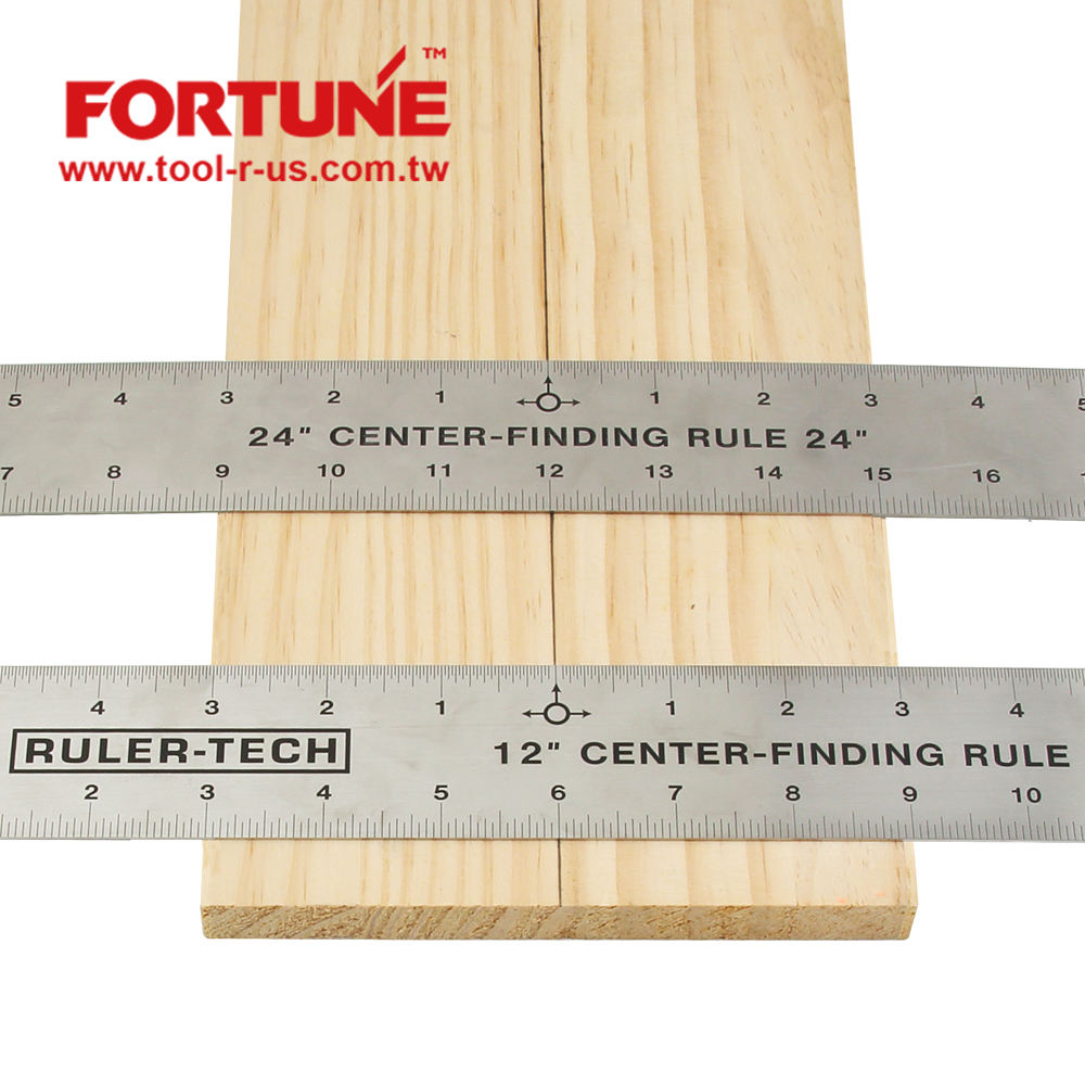 Center Finding Rules 12 and 24 inch for Wood Marking