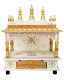 Wooden Temple Handpainted Mandir With Drawer Most Selling Traditional Indian Wooden Mandir For Home/Office And Gifting Purpose