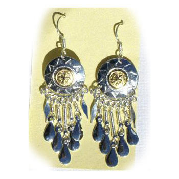 Metal Earrings Ethnic Peruvian Handmade from South America Peru Jewelry Wholesale