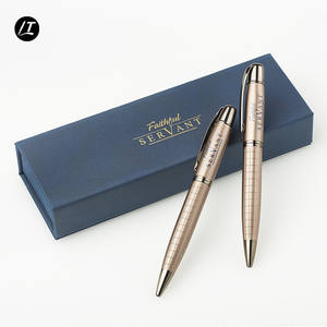 Custom pen set engraved box logo print case for men