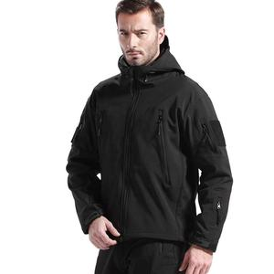 Di Alta Qualità Custom Made Nero Soft Shell Giacche Militari per Tactical Army Uomo Antivento