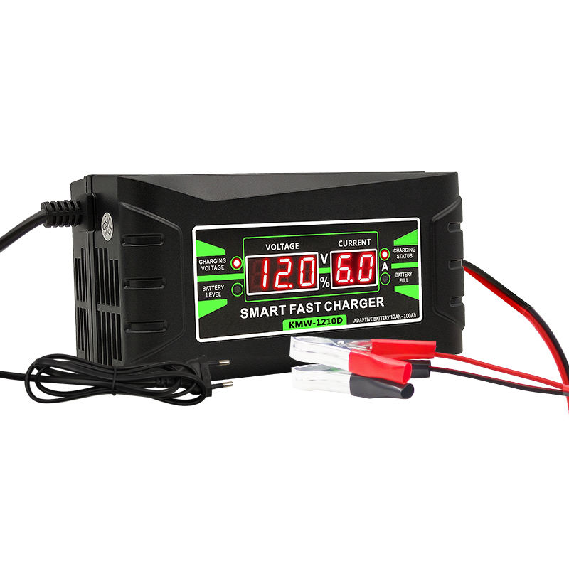 New Battery Charger 12V 6A Rechargeable Smart Fast Car Battery Charger