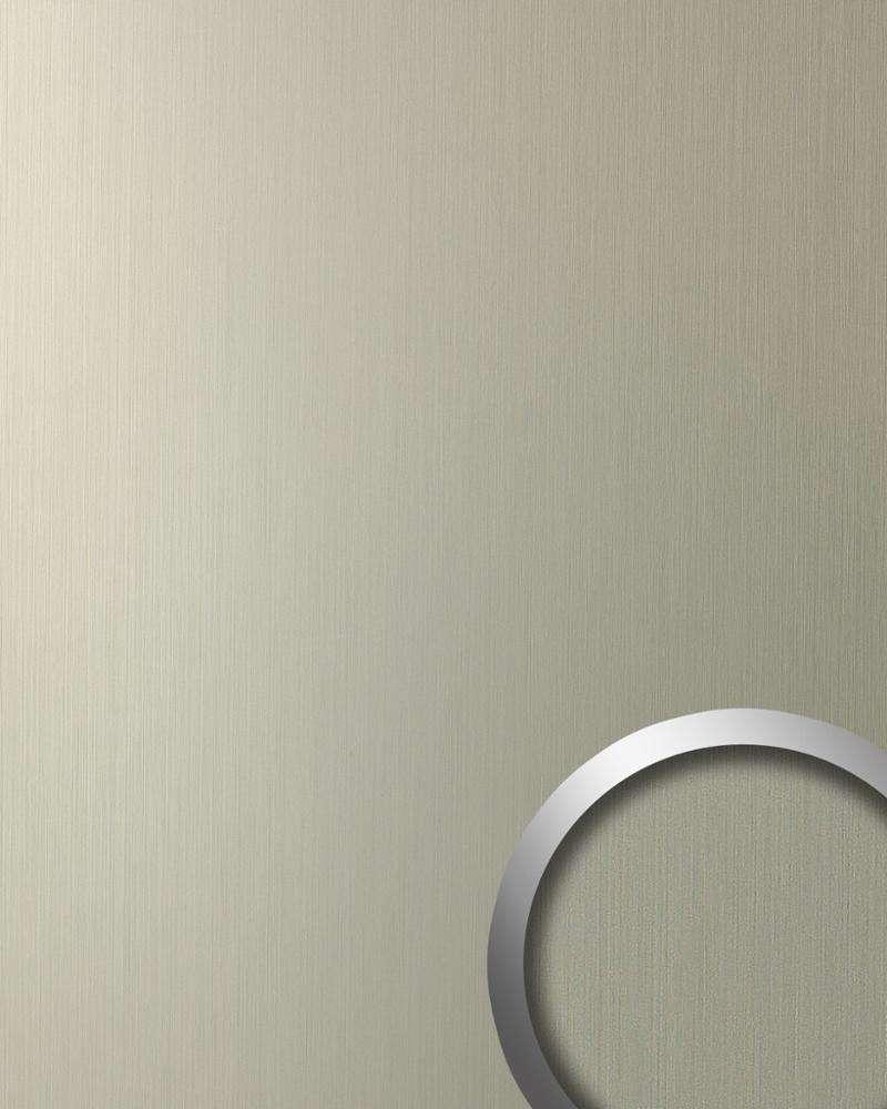 WallFace 12433 DECO панель настенная самоклеящаяся с текстурой шлифованной меди цвета шампанского   2,6 кв.м