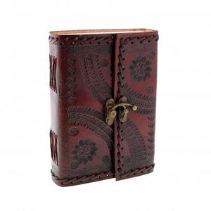 Handmade Genuine Leather Journal Notebook Diary with Embossed Leather