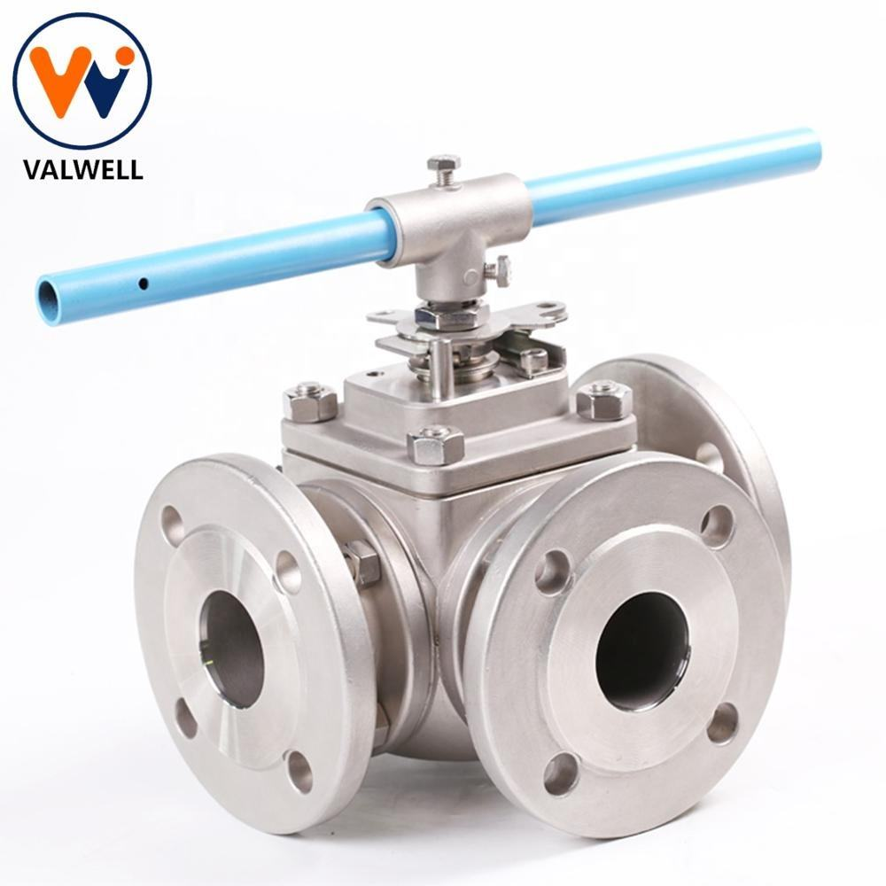 Logam Duduk Stainless Steel 3-Way Ball Valve