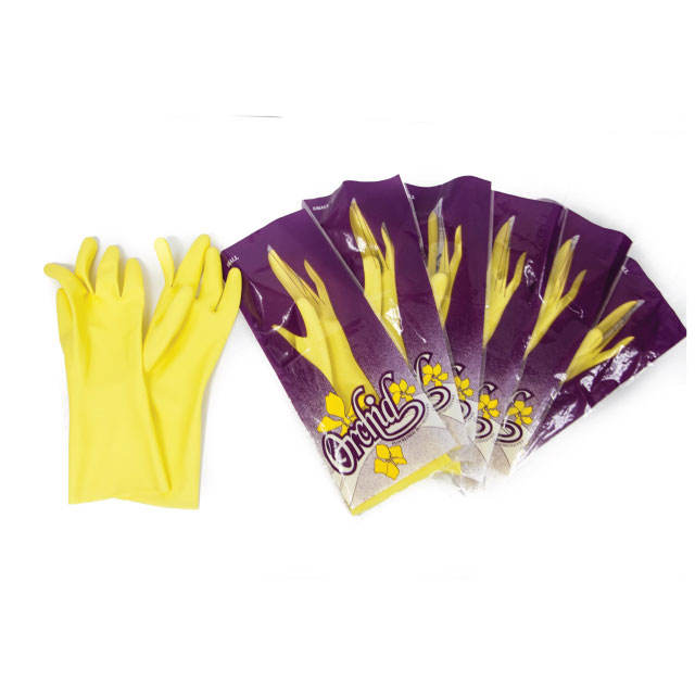 Kitchen wash yellow latex hand gloves fish cleaning dishwashing general cleaning multi purpose household gloves malaysia