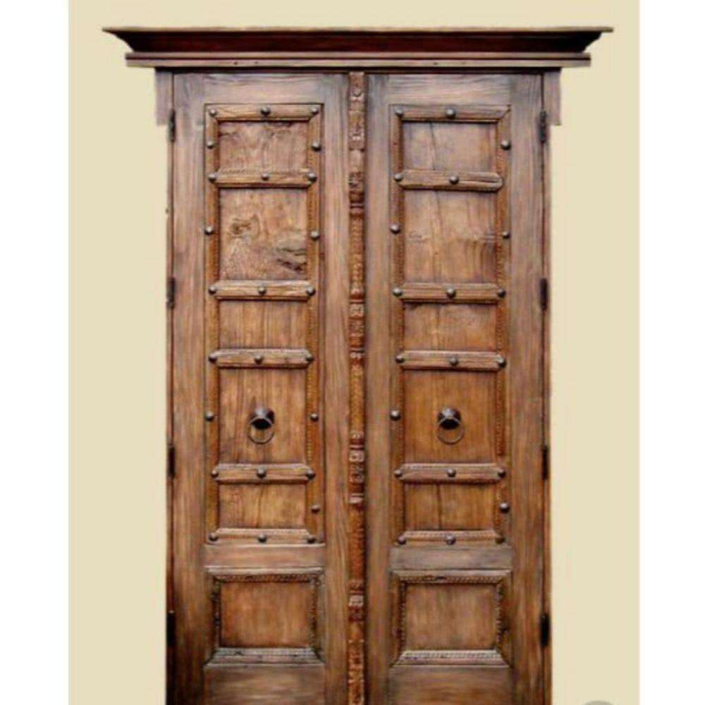 Indian Vintage and Antique Royal Solid Wood Carved Door