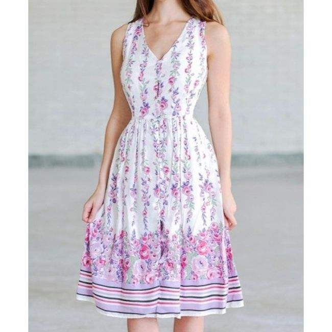 summer 100% cotton sleeveless women maxi dress printing sundress