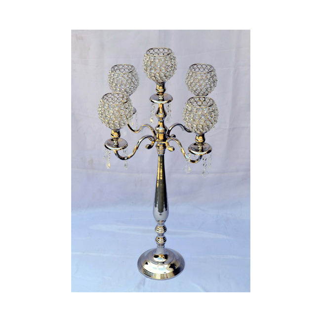 Good Quality Wedding Decorative Crystal Centerpiece Candelabra for Sale